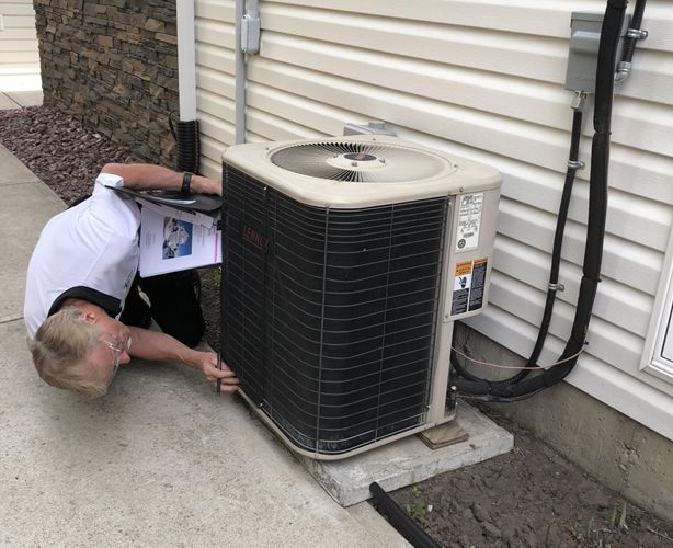 inspection of air conditioner